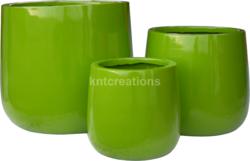 Urns Round Flower Glossy Ball Planter Pot