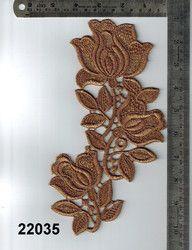 Metallic Polyester Gold Zari Work Patch
