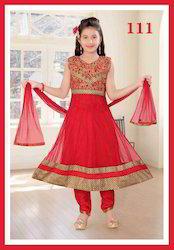 Red Kids Floor Length Suits