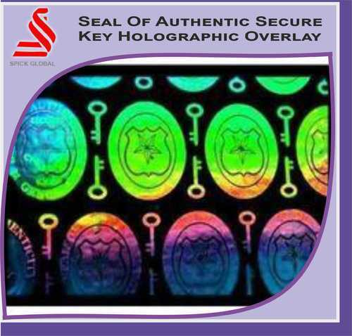 Seal of Authenticity Secure Key Holographic Overlay