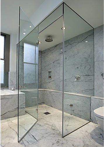 Frameless Glazing And Shower Cubicle Frameless Bathroom Glazing - Bathroom glazing
