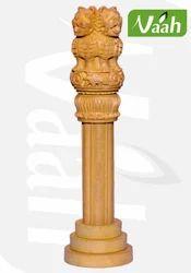 Wooden Carved Asoka Pillar