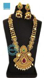 Royal Antique Long Wedding Necklace Set