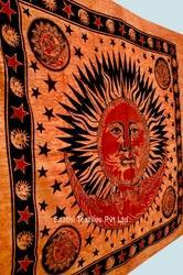 Indian Tapestry Sun Moon Printed Bed Sheets