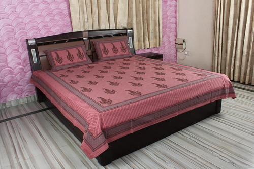 Beauteous Block Printed Cotton Bed Sheets