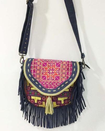 Shoulder Bag Vintage Banjara Pure Leather Fringe With Flexible Strap Wholer From Jaipur