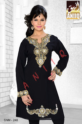 Black Short Kaftan