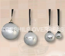 Frosted Ornaments