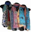 Handmade Cotton Kantha Floral Print Ladies Scarves