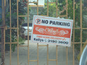 Tin Sheet No Parking Board Advertising