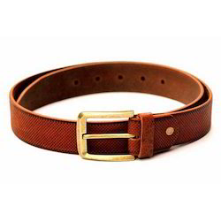 Mens Casual Tan Leather Belt