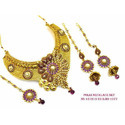 Designer Flower Necklace Set