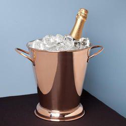 Gold- Copper Ice Bucket