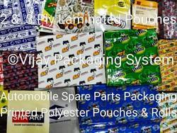 Printed Polyester Pouches for Auto Spare Parts