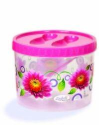 Plastic Printed Round Container 1000ml