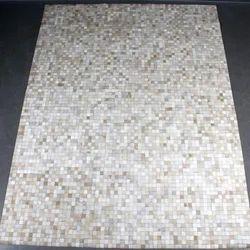 Leather Patchwork Area Carpet
