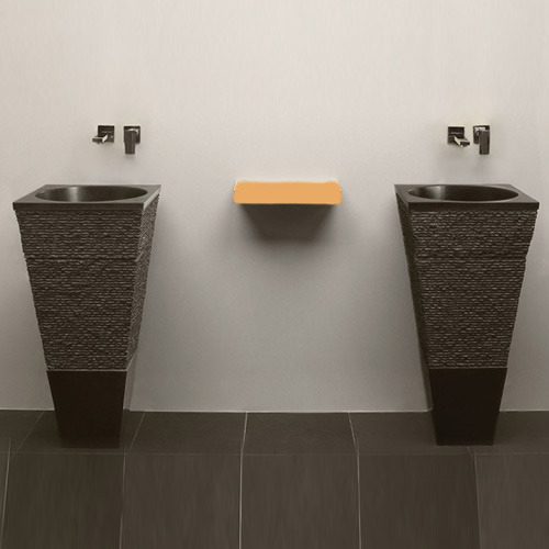 Free Standing Square Marble Basin