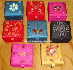 Hand Embroidery Jewellery Boxes and Gift Boxes