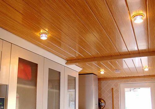 Панельный потолок на кухне своими руками 898