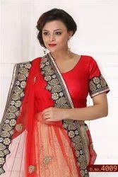 Women Hand Embroidered  Saree
