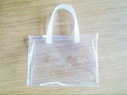 Transparent PVC Handle Bag