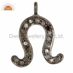 Diamond 925 Silver Charm Jewelry