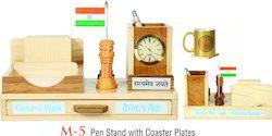 Pen Stand with Flag and Ashoka Pillar