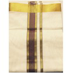 Warrior Dothis Aand Angavasthra - Cotton and Art Silk Dhoti