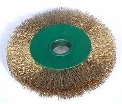 Round Brass Wire Brush