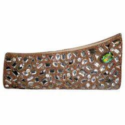 Zari Embroidery Clutch Bag