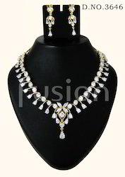 American Diamond Wedding Necklace Set