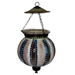 Glass Round Hanging Lamp