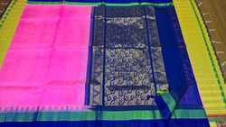 Silk Cotton Sarees Korva Silk Border