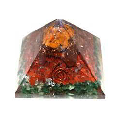 Orgone Pyramid With Green Prosperity