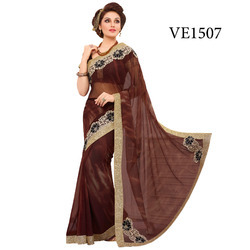Georgette Work Saree
