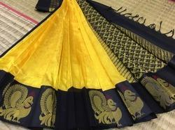 Kuppadam Silk Cotton Jacquard Side Butta Sarees