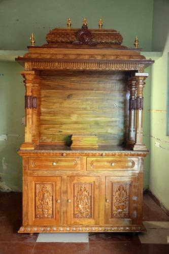 Wooden Pooja Mandapam Divine Teak Wood Hand Carved Temple Exporter From Chennai