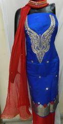 Aaditri Blue Banarasi Gota Patti Suit