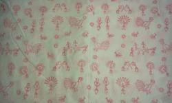 Tribal Design Block Printed Fabric