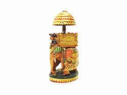 Wooden Painting Ambadari Ganesh