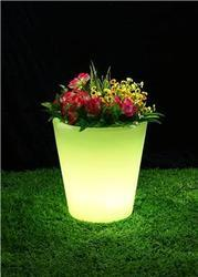 Chargeable LED Round Flowerpot