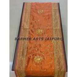 Bed Runner Silk Embroidery