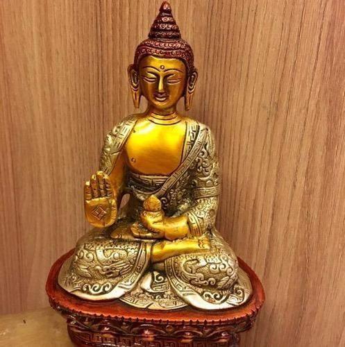 Brass Buddha Statue Home Decor