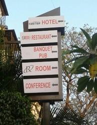 Hotel Direction Signage