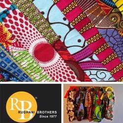 Polyester African Prints Cotton Feel Fabrics