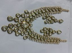 Trendy Kundan Meena Necklace