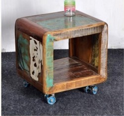 Recycled Wood Side Table - Recycled Wood Furniture