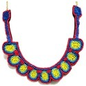 Embroidered Bib Necklace