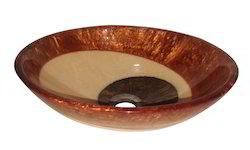 Prayosha Moon Brown Ring Resin Washbasin