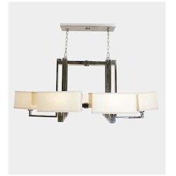 Square Shade 6 Arm  Chandelier